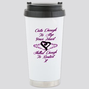Cute Enough To Stop You Stainless Steel Travel Mug