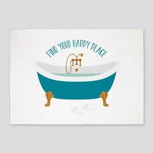 Happy Place Tub 5'x7'Area Rug