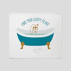 Happy Place Tub Throw Blanket
