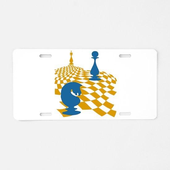 Chess Game Board Magnus Car Aluminum License Plate