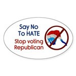 Stop Voting Republican Oval Sticker