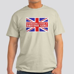 Everyone Loves a British Girl Light T-Shirt