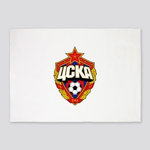 CSKA Soviet Russian Football Red Ar 5'x7'Area Rug