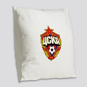CSKA Soviet Russian Football R Burlap Throw Pillow