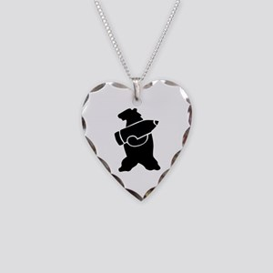 Wojtek The Soldier Bear! Necklace Heart Charm