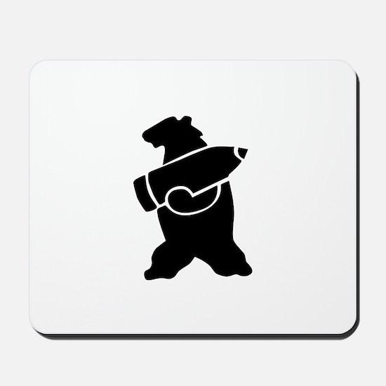 Retro Wojtek The Soldier Bear! Mousepad