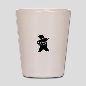 Retro Wojtek The Soldier Bear! Shot Glass