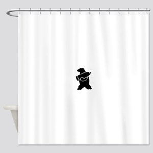 Retro Wojtek The Soldier Bear! Shower Curtain