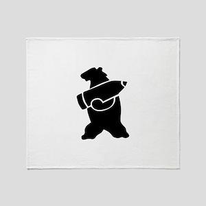 Retro Wojtek The Soldier Bear! Throw Blanket