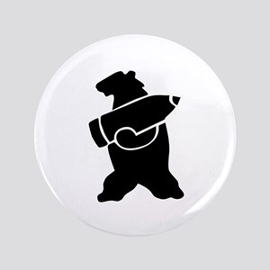 Retro Wojtek The Soldier Bear! Button