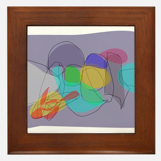 Gray Philosophy Framed Tile