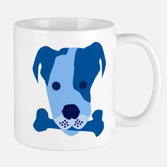 Bow Wow Blue Mugs