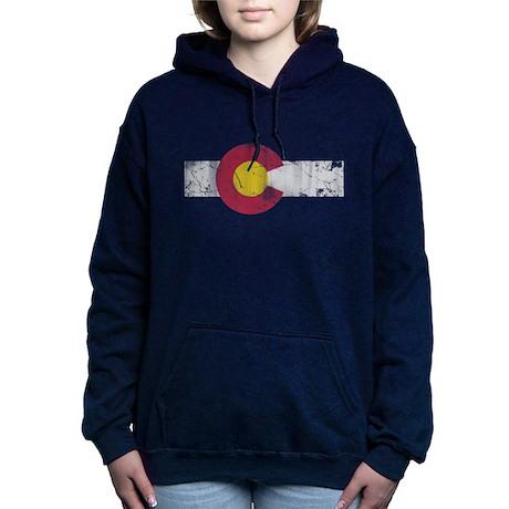 Annata Colorado State Cappuccio Zip Delle Donne Bandiera Cuore bXSmc03vdi