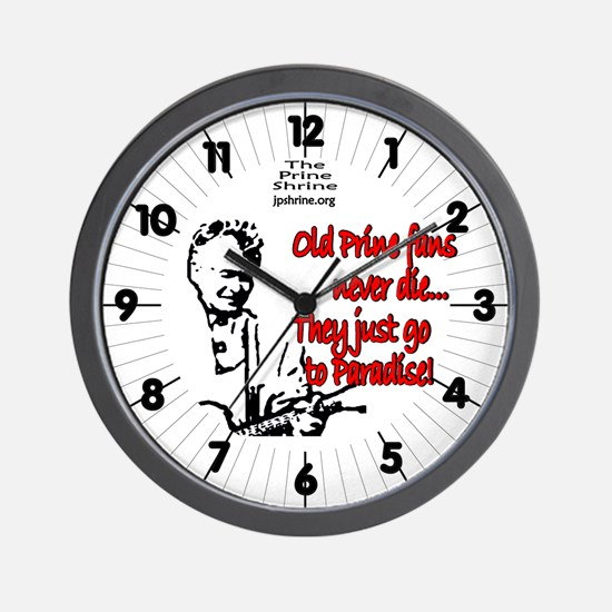 Old Prine Fans Wall Clock