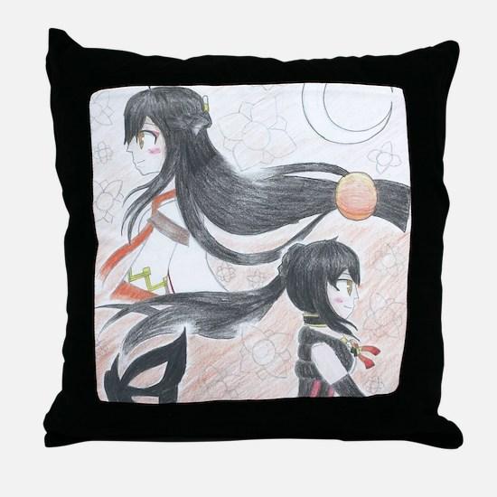 Funny Manga Throw Pillow