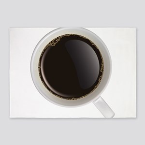 Coffee cup 3d 5'x7'Area Rug