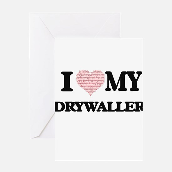I love my Drywaller (Heart Made fro Greeting Cards