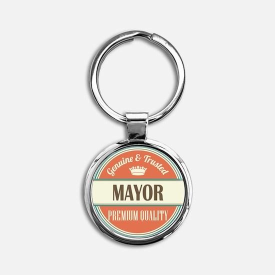 mayor vintage logo Round Keychain