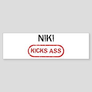 NIKI kicks ass Bumper Sticker