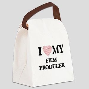 I love my Film Producer (Heart Ma Canvas Lunch Bag