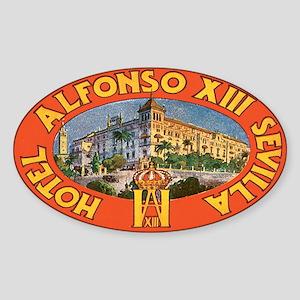 Vintage Sevilla Oval Sticker