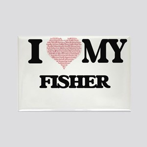 I love my Fisher (Heart Made from Words) Magnets