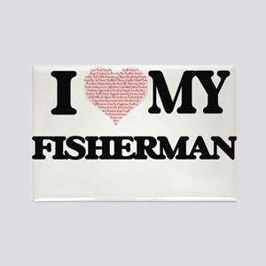 I love my Fisherman (Heart Made from Words Magnets