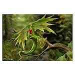 Ruby Birthstone Leaf Dragon Posters