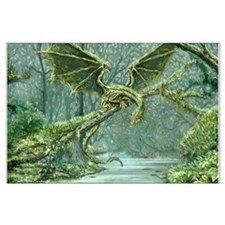 Grassy Earth Dragon Posters
