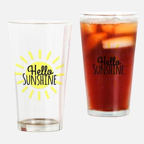 Hello Sunshine Drinking Glass