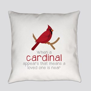 When Cardinal Appears Everyday Pillow