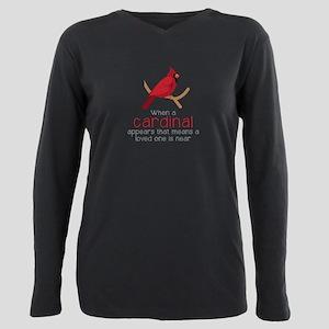 When Cardinal Appears Plus Size Long Sleeve Tee