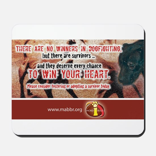 No Winners in Dogfighting Mousepad