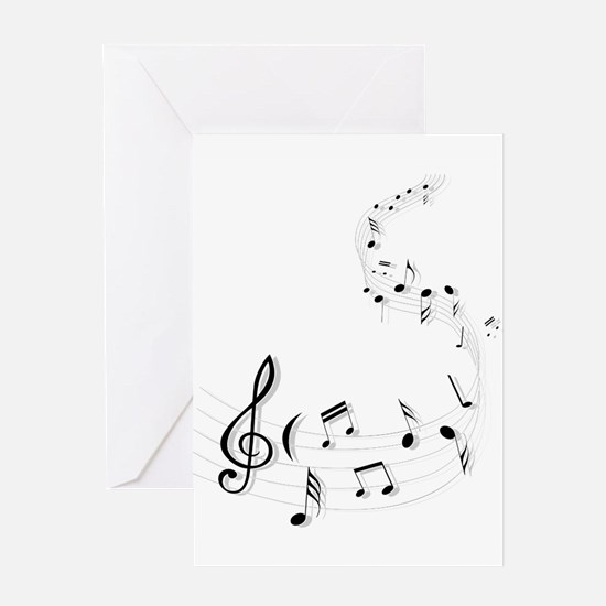 music is soul life Greeting Cards