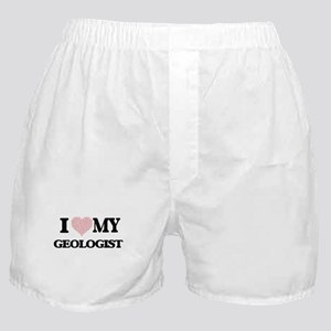 I love my Geologist (Heart Made from Boxer Shorts