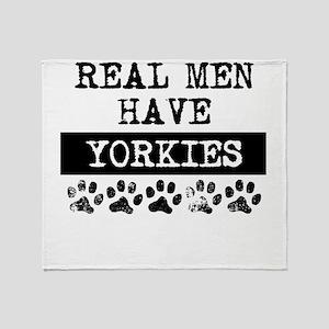 Real Men Have Yorkies Throw Blanket