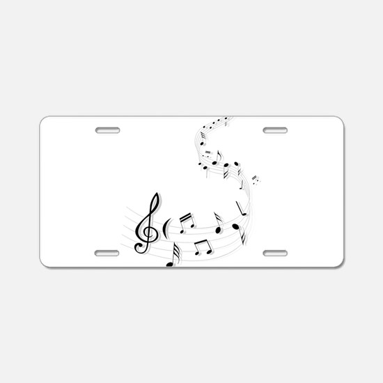 Music for the soul Aluminum License Plate