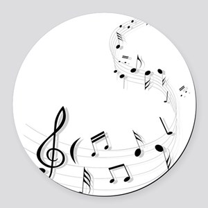 Music for the soul Round Car Magnet