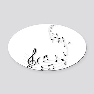 Music for the soul Oval Car Magnet