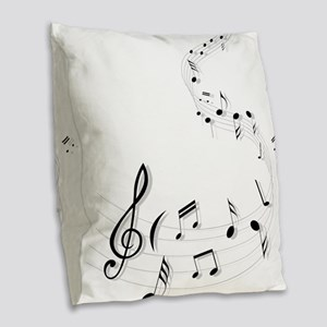 Music for the soul Burlap Throw Pillow