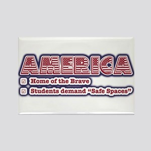 American Safe Spaces Rectangle Magnet