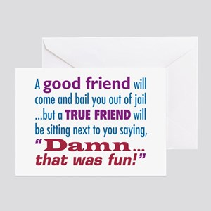 Best friends forever greeting cards cafepress true friend greeting card m4hsunfo