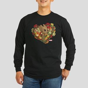 GOTG Baby Groot Valentine Long Sleeve Dark T-Shirt