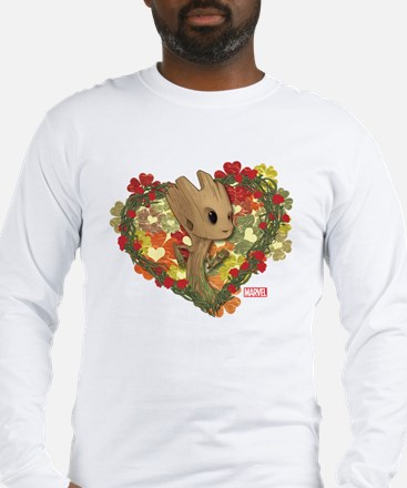 GOTG Baby Groot Valentine Long Sleeve T-Shirt
