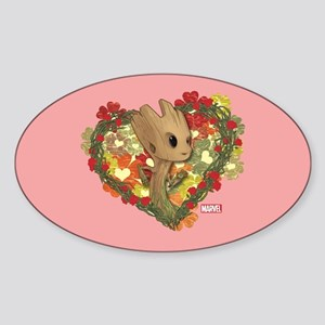 GOTG Baby Groot Valentine Sticker (Oval)