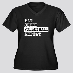 Eat Sleep Volleyball Repeat Plus Size T-Shirt