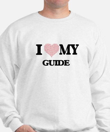 I love my Guide (Heart Made from Words) Sweatshirt