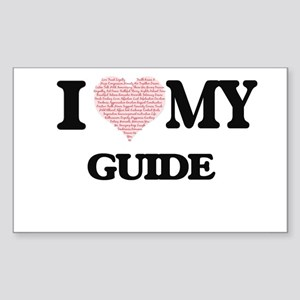 I love my Guide (Heart Made from Words) Sticker