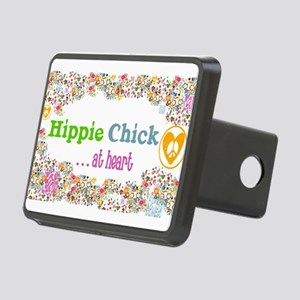 Hippie Chick at Heart Rectangular Hitch Cover
