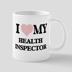 I love my Health Inspector (Heart Made from W Mugs